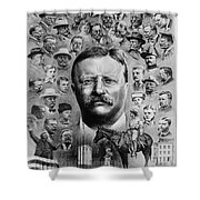 Theodore Roosevelt Shower Curtain by Granger