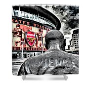 Thierry Henry Statue Emirates Stadium Art Shower Curtain