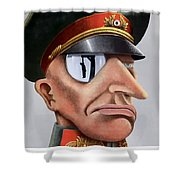 This Is The Enemy - Ww2 Poster Shower Curtain