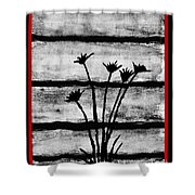 Thistles By The Barn Shower Curtain