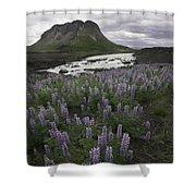 Thofafoss Waterfall Iceland 1571 Shower Curtain