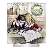 Thomas Nast: Christmas Shower Curtain by Granger