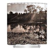Thornton Reservoir, Leicestershire Shower Curtain
