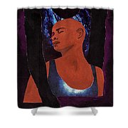 Thou Art With Me Shower Curtain