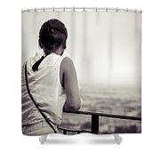 Thoughtful Women Shower Curtain