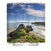 Three Cliffs Bay 5 Shower Curtain