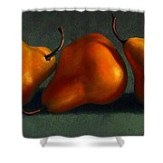 Three Golden Pears Shower Curtain