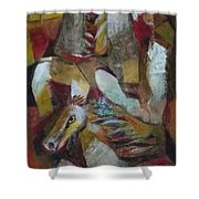 Three Horses Shower Curtain