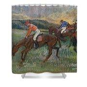 Three Jockeys Shower Curtain