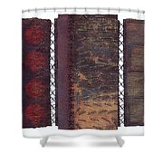 Three Panel Transitional Page Format  Shower Curtain