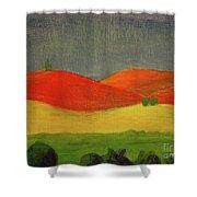 Three Standing Shower Curtain