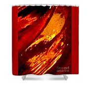 Through A Glass Darkly 1 Abstract Shower Curtain