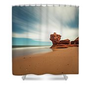 Thunder Cove Sea Arch And Flowerpot Rock Shower Curtain