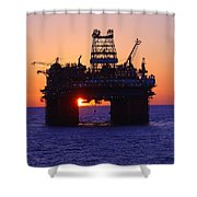 Thunder Horse At Sunset Shower Curtain
