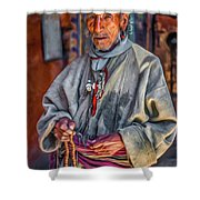 Tibetan Refugee - Paint Shower Curtain
