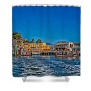 Tiburon Waterfront Shower Curtain