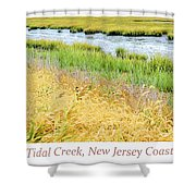 Tidal Creek Mud Flat At Low Tide Shower Curtain