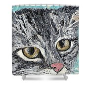 Tiger Cat Shower Curtain