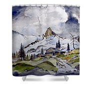 Tigers Tooth Peak Shower Curtain