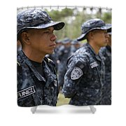 Tigres Commandos Stand In Formation Shower Curtain