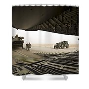 Tikrit, Iraq - A Ch-47 Chinook Shower Curtain