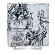 Time Between Women Shower Curtain