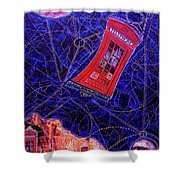 Time Traveler Shower Curtain