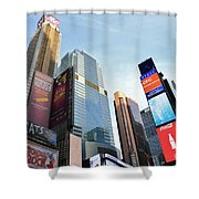 Times Square New York City Shower Curtain