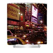 Times Square Night Shower Curtain