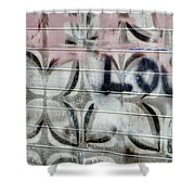 Tiny Pink Butterfly Graffiti Shower Curtain