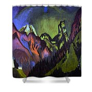 Tinzenhorn Zugen Gorge Near Monstein Shower Curtain