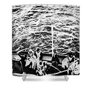 Titanic: Lifeboats, 1912 Shower Curtain