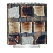 Toast Shower Curtain