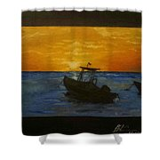 Tobago Sunset Shower Curtain