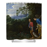 Tobias And The Archangel Raphael Shower Curtain