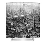 Tokyo Earthquake, 1923 Shower Curtain