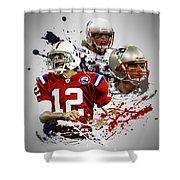 Tom Brady Patriots Shower Curtain