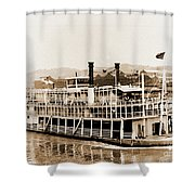 Tom Greene River Boat Shower Curtain