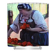 Tomatoe Lady Shower Curtain