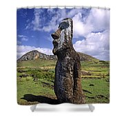 Tongariki Moai On Easter Island Shower Curtain