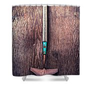 Tools On Wood 50 Shower Curtain