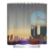 Toronto Skyline - The Six Shower Curtain