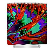 Total Chaos Shower Curtain