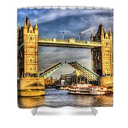 Tower Bridge And The Dixie Queen Shower Curtain