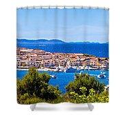 Town Of Primosten Panoramic View Shower Curtain