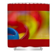 Toy Abstract Shower Curtain