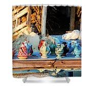traditional tunis ceramics, Djerba, 07 Nov 2014 Shower Curtain