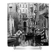 Traditional Venetian Gondolier Shower Curtain