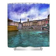 Trafalgar Square Fountain London 5 Art B Shower Curtain