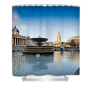 Trafalgar Square National Gallery Shower Curtain